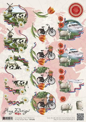 3d Knipvel Amy Design Maps Holland Findittrading Com