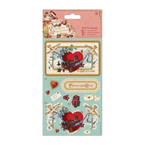 DoCrafts Victorian Valentine A5 Paper Pack