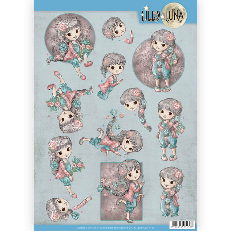SHINE LIKE A STAR  FOR CARDS /& CRAFTS LILLY LUNA 3D DECOUPAGE