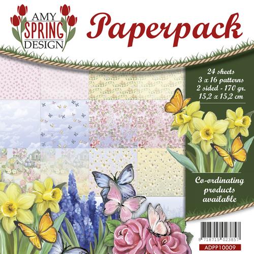 Paperpack TU Flowers 15,2 x 15,2 cm-Precious Marieke 170gr