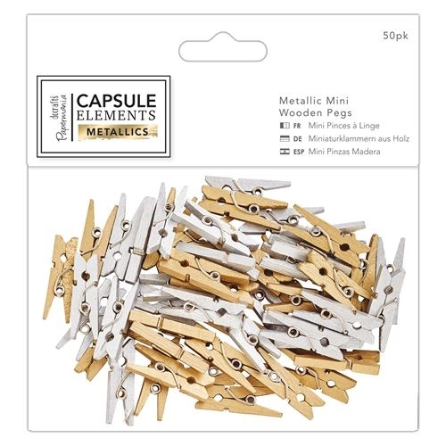 30pcs Metallic Wooden Tile Letters Elements Metallics for cards and crafts