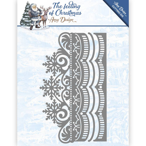 ADD10109 AMY DESIGN THE FEELING OF CHRISTMAS CUTTING DIE ICE CRYSTAL FRAME