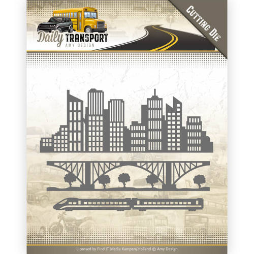 CONSTRUCTION VEHICLES ADD10133 AMY DESIGN DAILY TRANSPORT CUTTING DIE