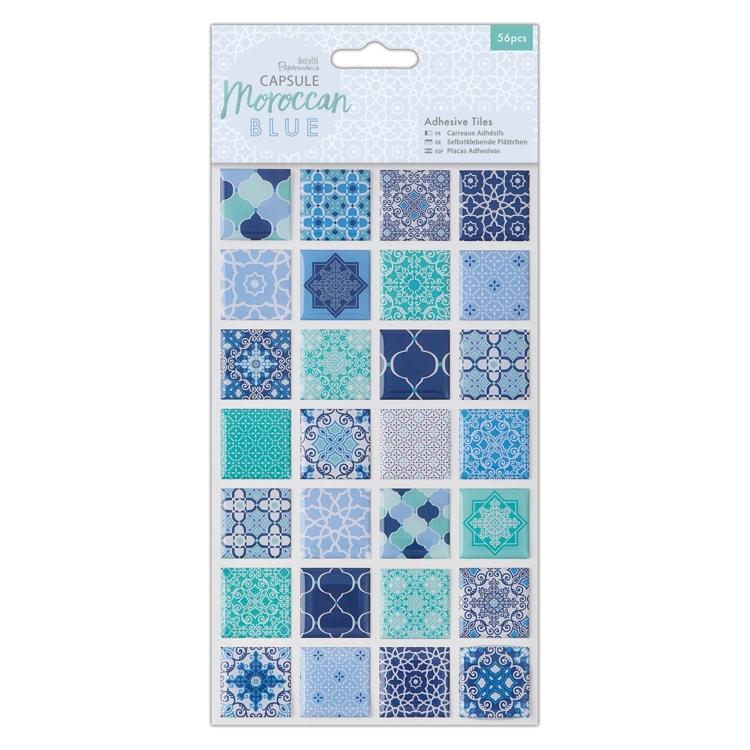 Moroccan Blue 3 Pieces Gem Bottles Papermania Capsule