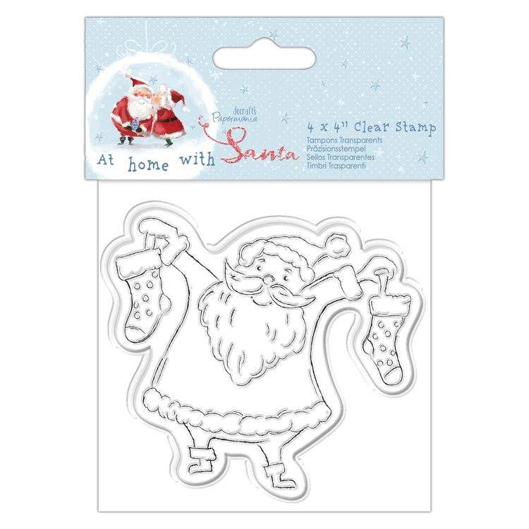 Hanging Decoupage Card Kit At Home with Santa/' Papermania Christmas Collection
