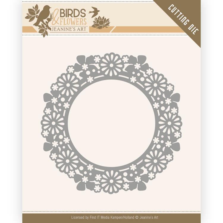 FLORAL BORDER JAD10033 JEANINE/'S ART VINTAGE FLOWERS CUTTING DIE