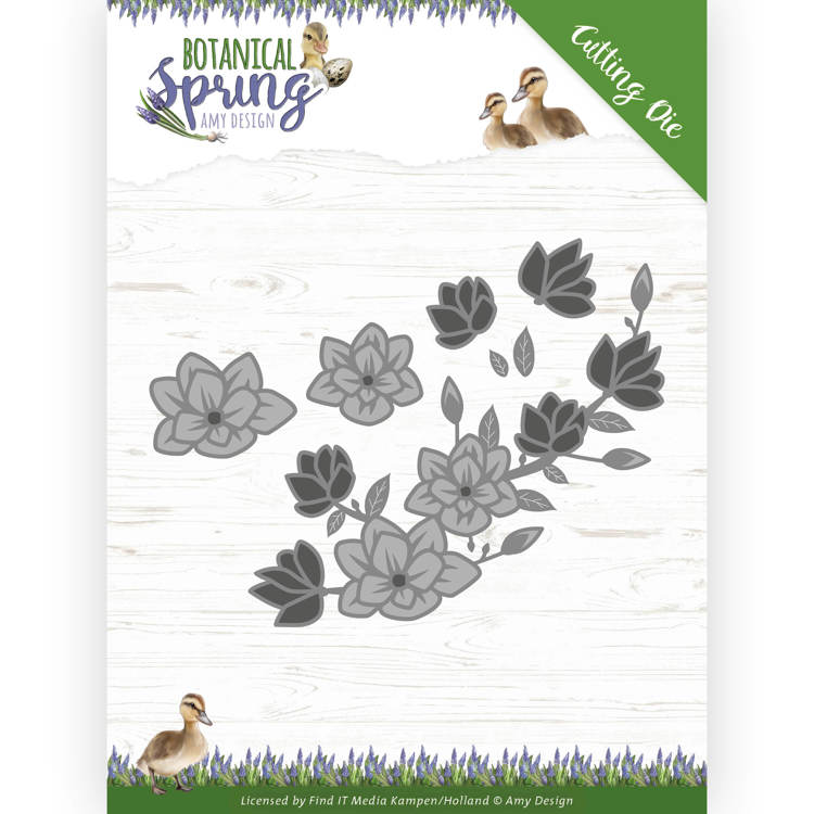 Amy Design//ADD10164//Small////Cool Tags////Floral//Metal Cutting Die Set of 3